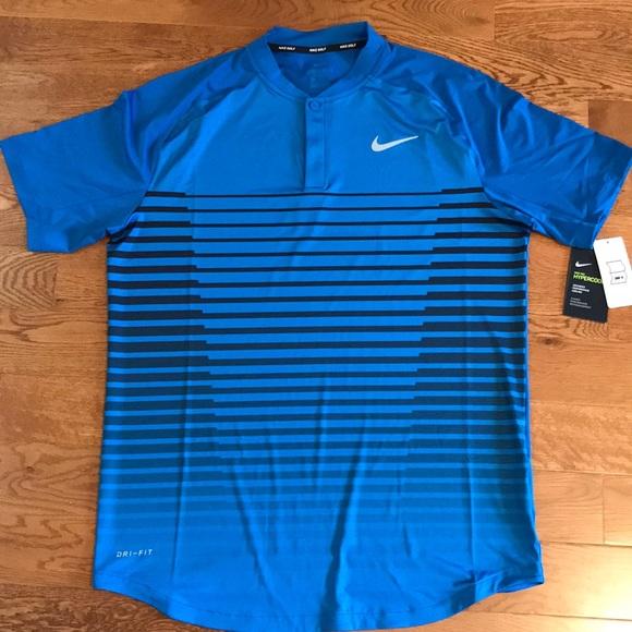 0750b2bc93 New Nike TW Tiger Woods Pro Men's Golf Shirt Sz M NWT